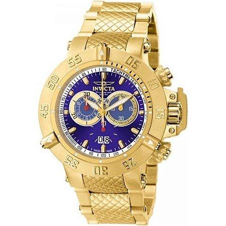 03f27f09517 Relógio Invicta Subaqua Noma 3 14501 banhado a ouro original - RR ...