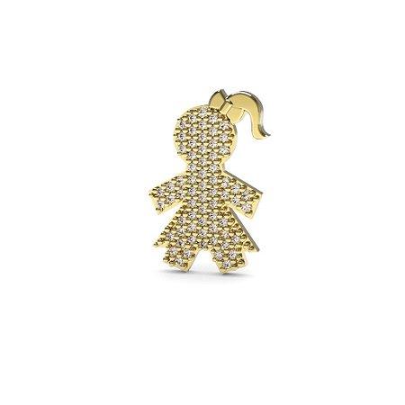 15b4e964767ea Pingente menina de saia de ouro 18k e diamantes - Maternidade ...