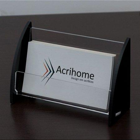 Porta cartões de visita preto - 3 peças