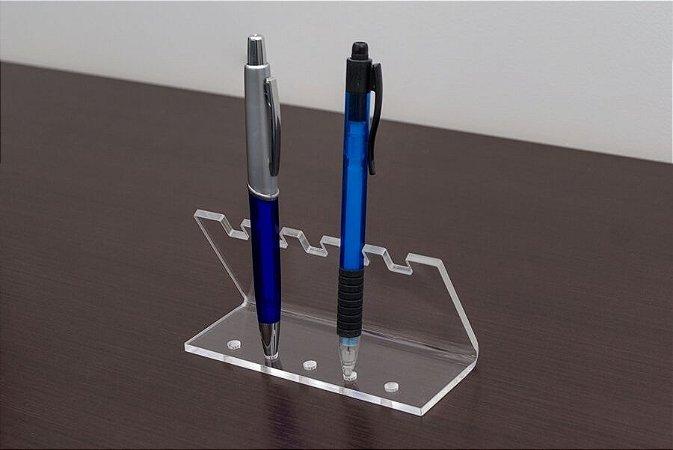Expositor de canetas 5 espaços Kit com 3 peças