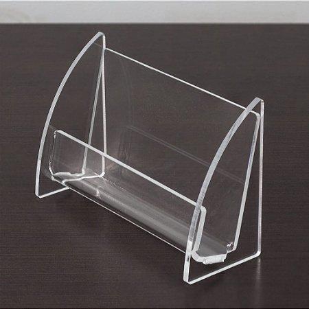 Porta cartões em acrílico transparente - 3 peças