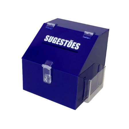 Caixa de sugestões azul