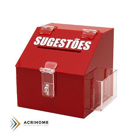 Mini caixa de sugestões vermelha