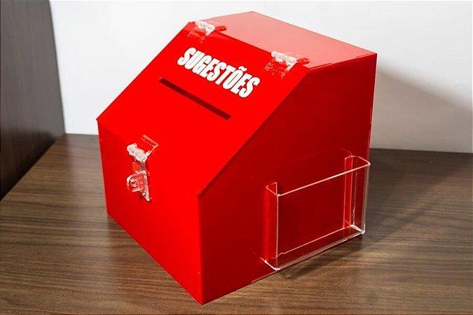 Caixa de sugestões vermelha