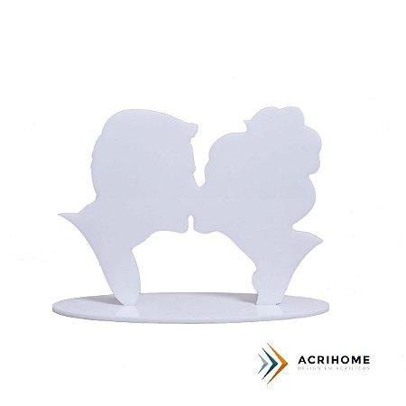 Topo de bolo (beijo) - Branco