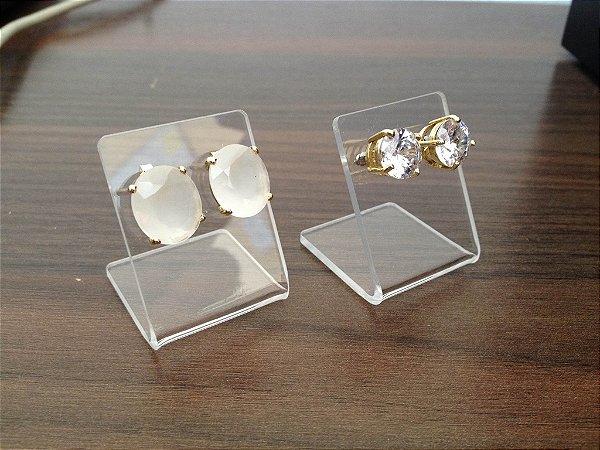 Expositor transparente de brincos - 10 peças