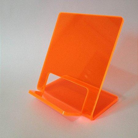 Expositor de celular  laranja fluorescente - 10 peças