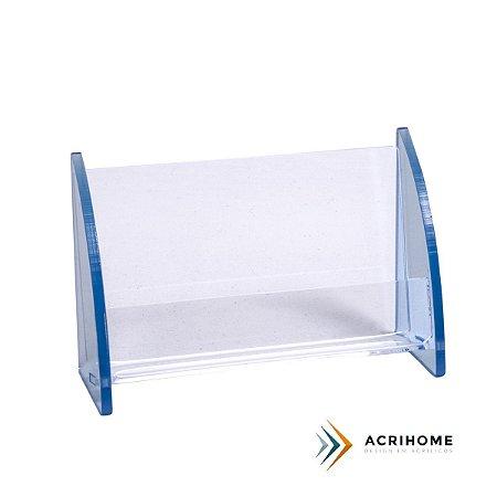 Porta cartão de visita de acrílico azul claro - 3 peças