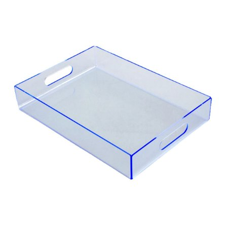 Bandeja de acrílico azul claro média