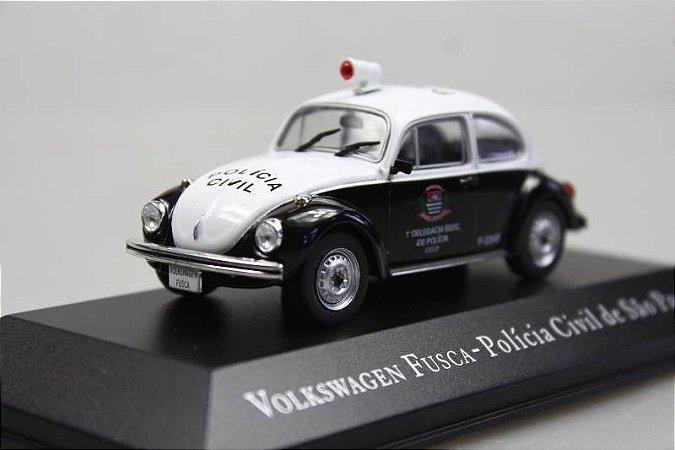Volkswagen Fusca Polícia Civil SP-Escala 1/43-Edição 9