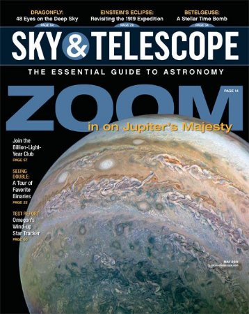 Sky & Telescope Maio 2019: Zoom in Jupiter's Majesty (revista importada)