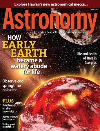Astronomy Maio 2019: How early Earth became a watery abode for life (revista importada).