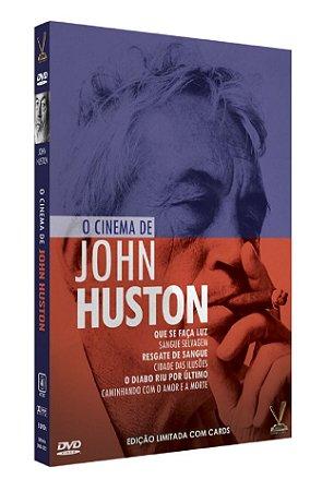 O CINEMA DE JOHN HUSTON  EDIÇÃO DEFINITIVA LIMITADA COM 6 CARDs  (Caixa com 03 DVDs)