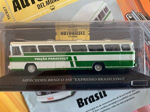 """COLECIONÁVEL AUTOBUSES DEL MUNDO MERCEDES-BENZ O 355 """"EXPRESSO BRASILEIRO"""" C/ FASCÍCULO"""