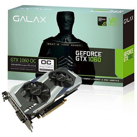 PLACA DE VIDEO GALAX GEFORCE GTX 1060 OC 3GB DDR5