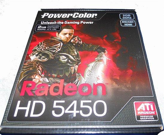 PLACA DE VIDEO POWERCOLOR RADEON HD 5450 2GB DDR3