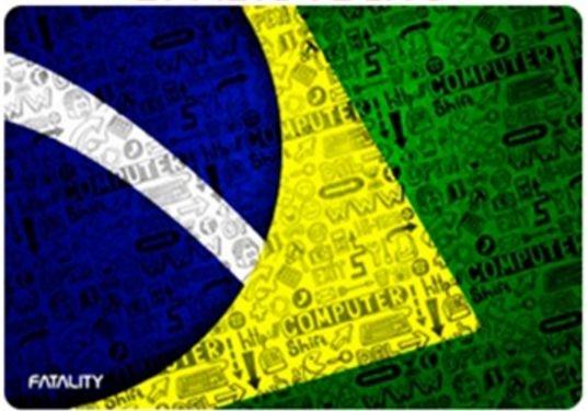 Mousepad Fatality Brasil Tecno Médio com case