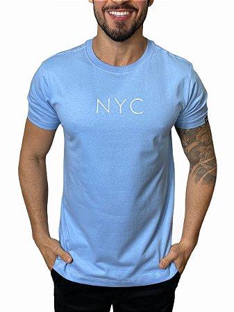 Camiseta New Era Botany NYC Azul Claro