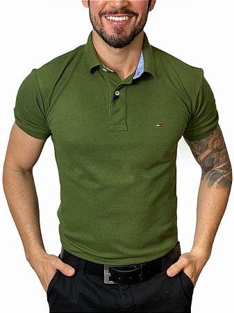 Camisa Polo Tommy Hilfiger Verde Oliva