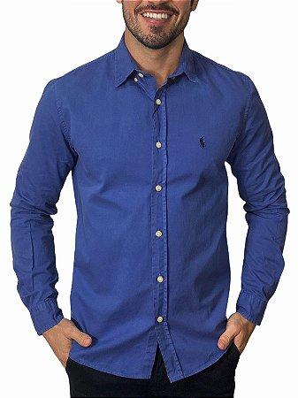 Camisa Ralph Lauren Sarja Tinturada Azul