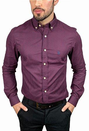 Camisa Ralph Lauren Xadrez Bordo