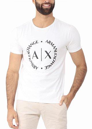 Camiseta Armani Exchange Logo Off White