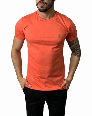 Camiseta Ralph Lauren Básica Coral