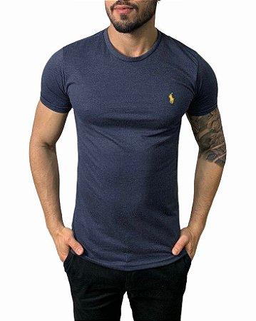 Camiseta Ralph Lauren Básica Azul Mescla