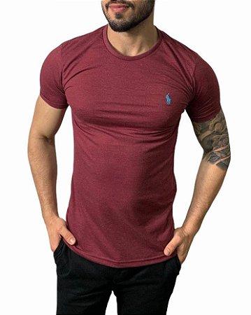 Camiseta Ralph Lauren Básica Bordô Mescla