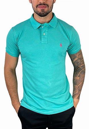 Camisa Polo Ralph Lauren Azul Capri