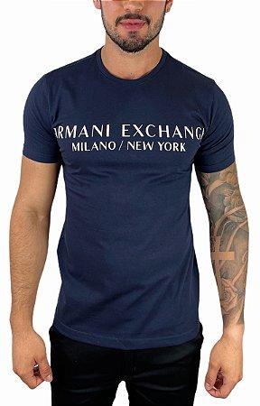 Camiseta Armani Exchange Milano New York Azul