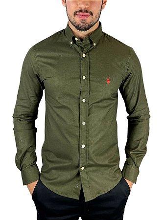 Camisa Ralph Lauren Oxford Verde Sálvia