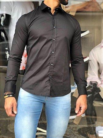 Camisa Alfaiataria Italiana Preto