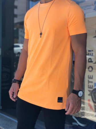 Camiseta Laranja Neon