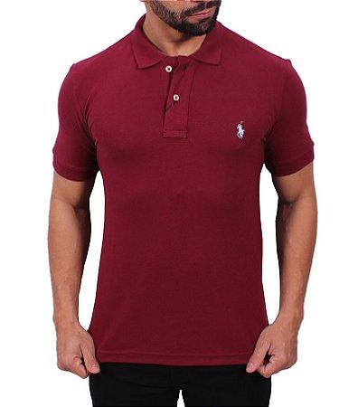 Camisa Polo Ralph Lauren Bordô