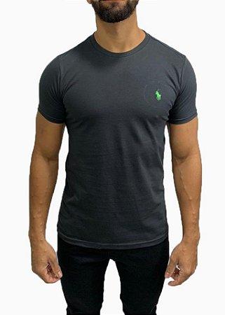 Camiseta Ralph Lauren Básica Chumbo