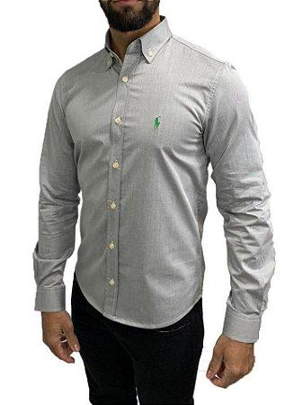 Camisa Ralph Lauren Cinza ESCURO
