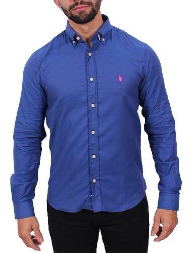 Camisa Ralph Lauren Oxford Azul