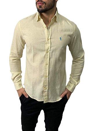 Camisa Ralph Lauren Linho Amarela