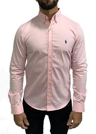 Camisa Social Ralph Lauren Lisa Rosa