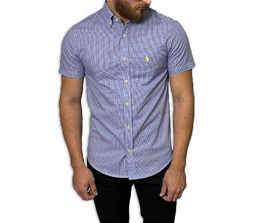 Camisa Ralph Lauren Xadrez Azul