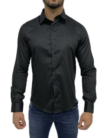 Camisa Armani Exchange Preta