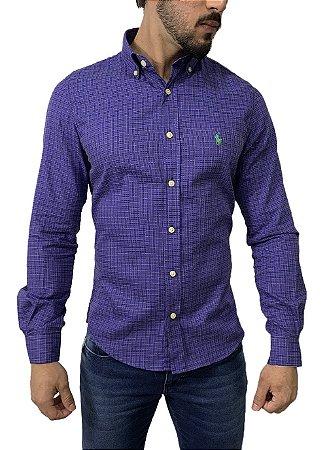 Camisa Ralph Lauren Xadrez Roxo