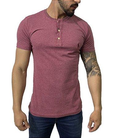 Camiseta Ralph Lauren Henley Bordô