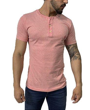 Camiseta Ralph Lauren Henley Rosa