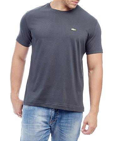 Camiseta Lacoste Básica Chumbo