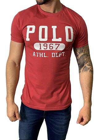 Camiseta Ralph Lauren Estampada Salmão