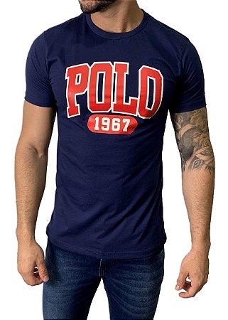 Camiseta Ralph Lauren Estampada Azul Marinho