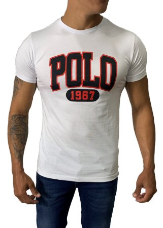 Camiseta Ralph Lauren Estampada Branca