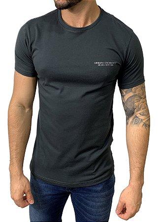 Camiseta Armani Exchange Milano/New York Chumbo